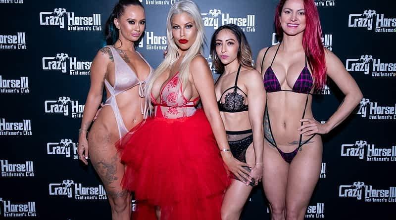 Bridgette B with Crazy Horse 3 Entertainers