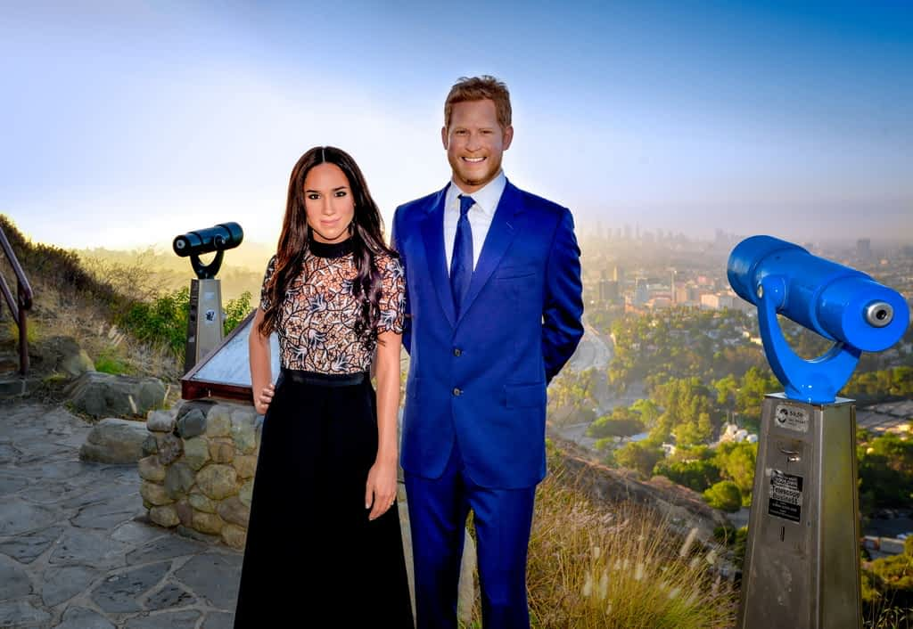 Prince Harry and Meghan Markle Looking Over LA
