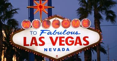 The iconic Welcome to Fabulous Las Vegas sign