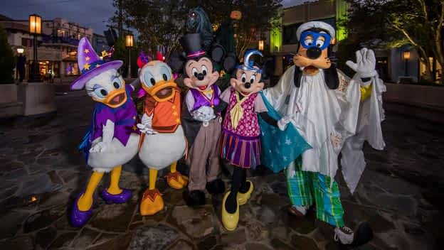 Disney Characters Ready for Halloween