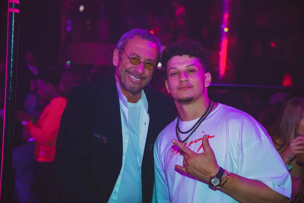 Victor Drai and Patrick Mahomes, Kansas City Chiefs Quarterback, at Drai's Nightclub