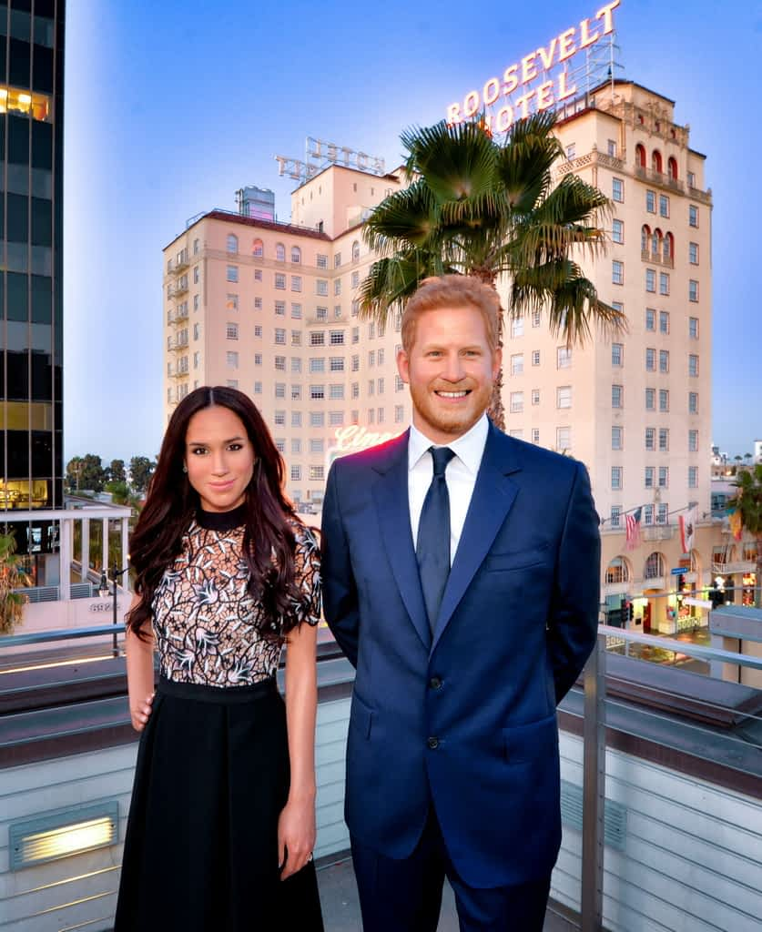 Prince Harry and Meghan Markle with the Roosevelt