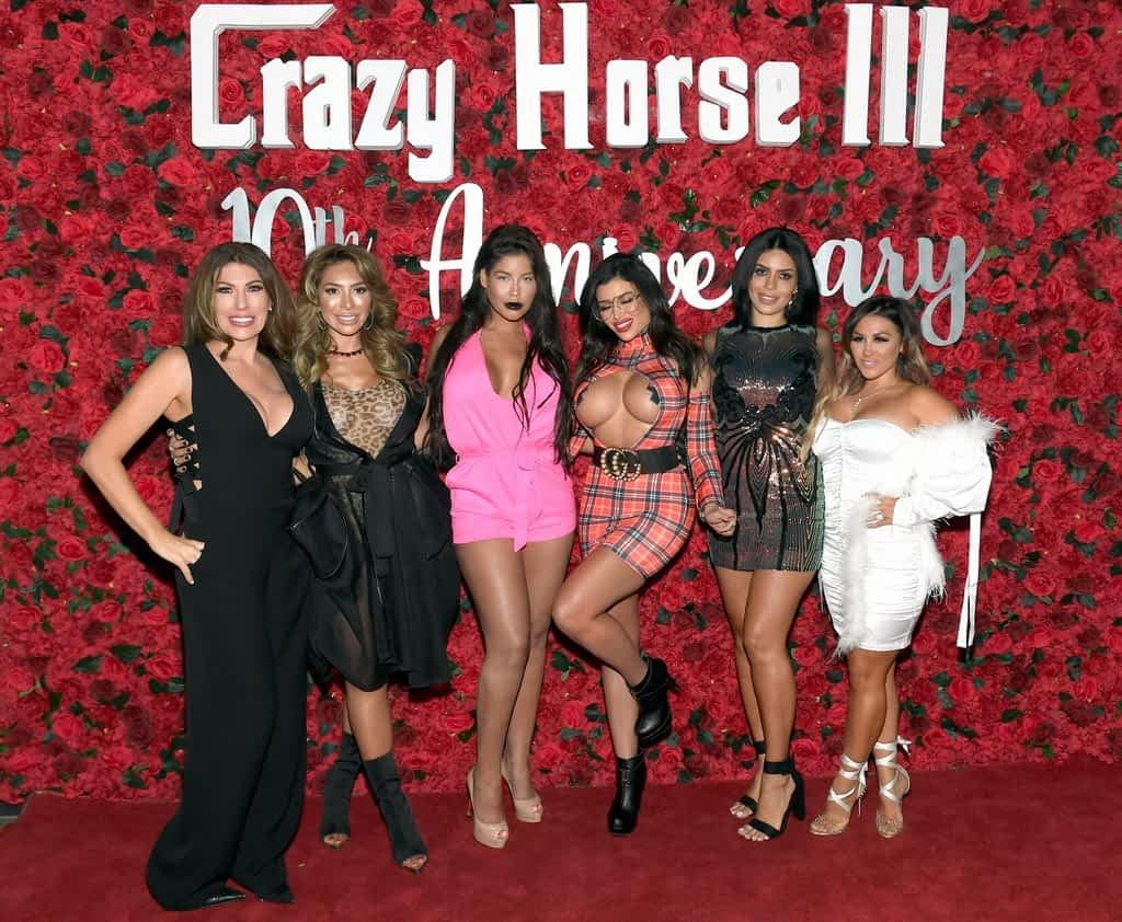 Heather Rohrer, Farrah Abraham, Bridgette B, Toochi Kash, Larissa Lima, and Jen Harley on Crazy Horse 3 Red Carpet